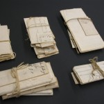 folded and tied documents from the early to mid-19th century