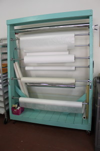 rolled storage rack